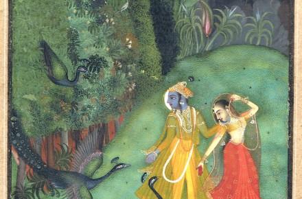 Der Blaue Gott in indischen Miniaturen