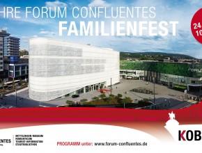 4 JAHRE FORUM CONFLUENTES FAMILIENFEST Sa. 24.06.2017 | 10.00–18.00 Uhr