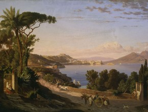 Carl Wilhelm Götzloff (1799-1866) A landscape painter from Dresden at the Bay of Naples