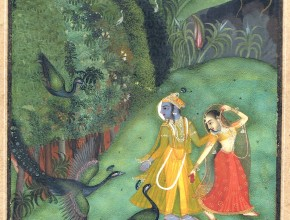 The Blue God in Indian miniatures
