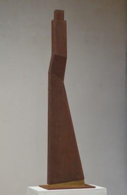 Aurea, 2014, Corten-Stahl und Blattgold, 101 x 28 x 15,5 cm
